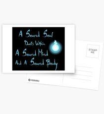 Eine gesunde Seele Postkarten