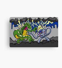Battle of Monstrosity Canvas Print