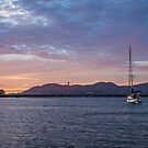 Sunset on San Francisco Bay by James Watkins