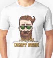 Hipster Craft Beer Theme Unisex T-Shirt