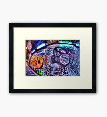 Masked graffiti man Framed Print
