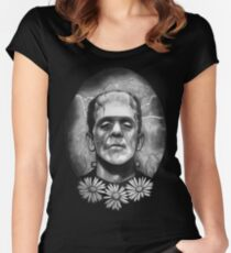 Boris Karloff as Frankenstein's Monster Women's Fitted Scoop T-Shirt