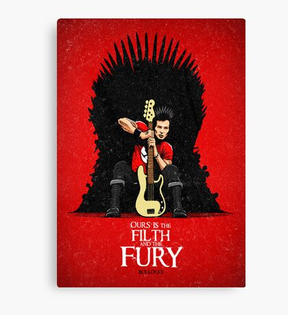 Ours is The Filth and The Fury Canvas Print