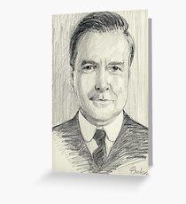 John Bates of Downton Abbey Greeting Card