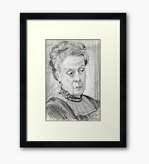 Countess Violet Crawley of Downton Abbey Framed Print
