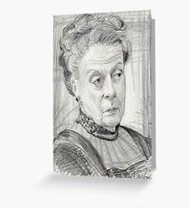 Countess Violet Crawley of Downton Abbey Greeting Card
