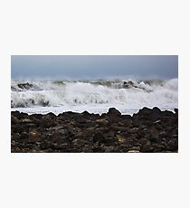 Heavy Surf as a Nor'Easter Pulls out to Sea - North Hampton, NH 03-08-13 Photographic Print