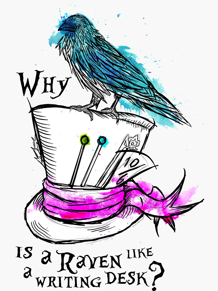 Why is a raven like a writing desk? by HannahPalmerArt