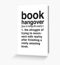 Book Hangover Meaning Greeting Card