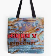 Henry V --Then imitate the action of the tiger Tote Bag