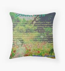 Shakespeare Sonnet 18--Shall I compare thee... Throw Pillow