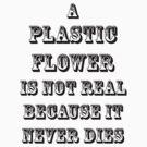 A Plastic Flower Is Not Real by Hekla Hekla