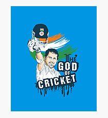 Sachin God of Cricket Photographic Print