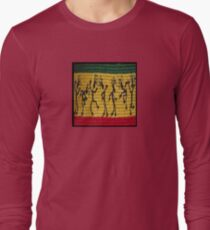 lively reggae dancers (square) front Long Sleeve T-Shirt