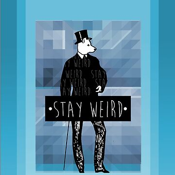 •stay weird• wolf by polecatsky