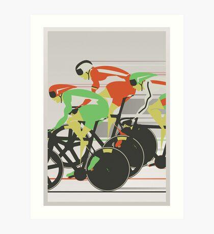Velodrome bike race Art Print