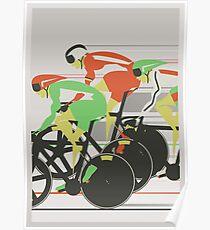 Velodrome bike race Poster