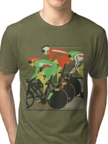 Velodrome bike race Tri-blend T-Shirt