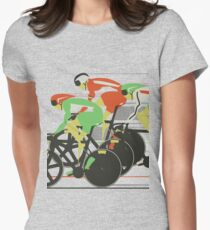 Velodrome bike race Women's Fitted T-Shirt