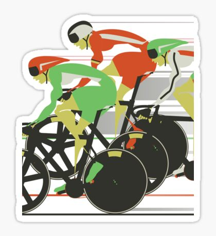 Velodrome bike race Sticker