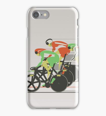 Velodrome bike race iPhone Case/Skin