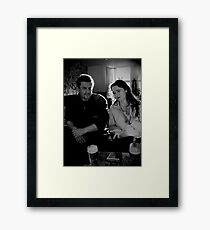 pub chat Framed Print