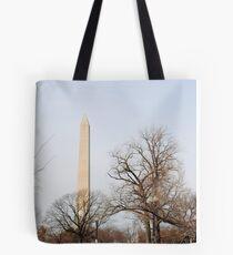 Washington Monument Behind Trees Tote Bag