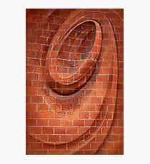 Spiral in Brick Photographic Print
