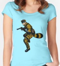Tanooki Camouflauge Women's Fitted Scoop T-Shirt