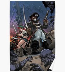 Zoombies on Deck - Trader Jack and Mad Martha Poster