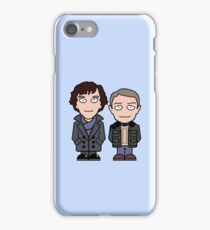 Sherlock and John mini people (phone cover) iPhone Case/Skin