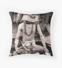 The Severed Hand Yogi. Throw Pillow