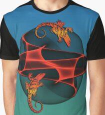 Fractal Gecko Graphic T-Shirt