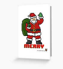 Merry Santa - V:IPixels Holiday Collection Greeting Card