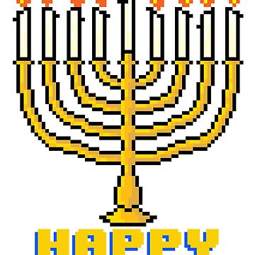 Happy Menorah - V:IPixels Holiday Collection by WizWorldInc