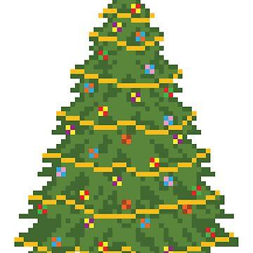 Christmas Tree - V:IPixels Holiday Collection by WizWorldInc