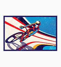 retro track cycling print poster Photographic Print