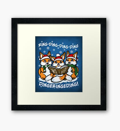 What does the Fox Sing - Print Framed Print