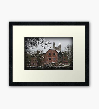 St Nicholas Church - Newbury - West Mills View Framed Print