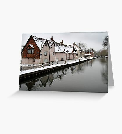 West Mills - Newbury, in Snow Greeting Card