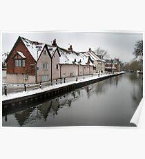 West Mills - Newbury, in Snow Poster