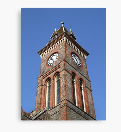 Town Hall Clock - Newbury Canvas Print