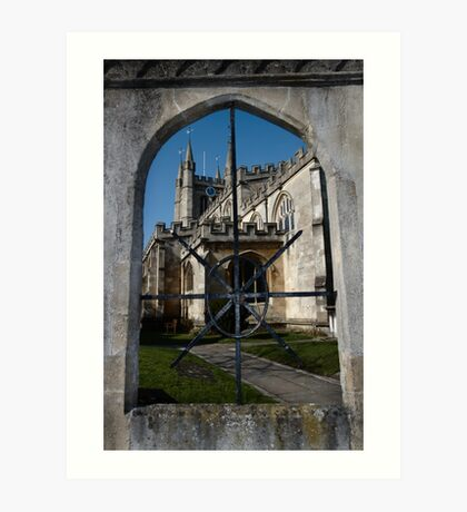 St Nick's Through The Window Art Print