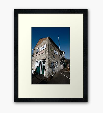 Tha Cafe by the Canal - Newbury Framed Print
