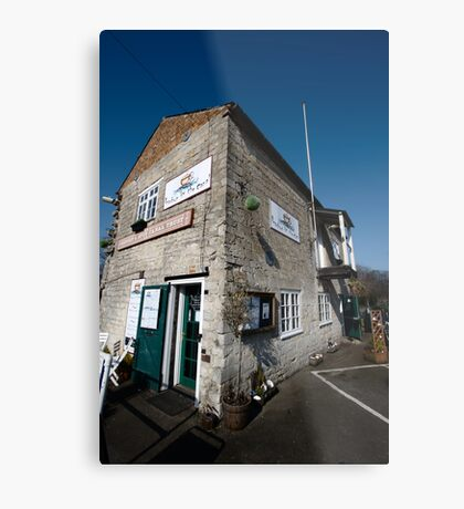 Tha Cafe by the Canal - Newbury Metal Print