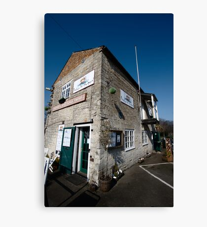 Tha Cafe by the Canal - Newbury Canvas Print
