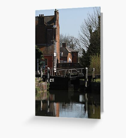 Newbury Lock Greeting Card