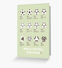 My Evolution Soccer Ball minimal poster Greeting Card