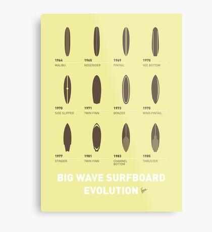 My Evolution Surfboards minimal poster Metal Print