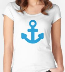 Anchor ship boat Women's Fitted Scoop T-Shirt